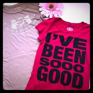 Juicy Couture Bundle: 2 Short Sleeved Tee Shirts